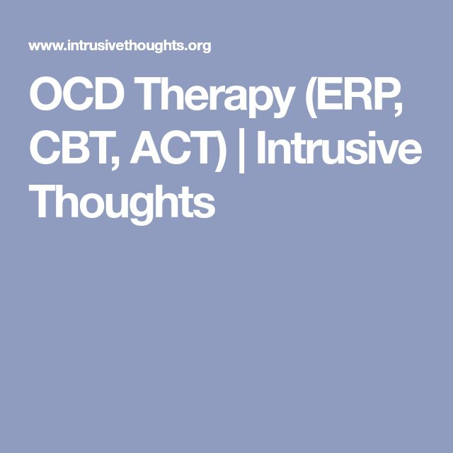 OCD Therapy (ERP, CBT, ACT) | Intrusive Thoughts