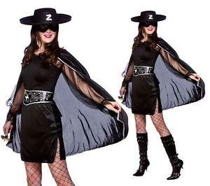Ladies Black Bandit Masked Mexican Costume Hero Fancy Dress Outfit HAT | eBay