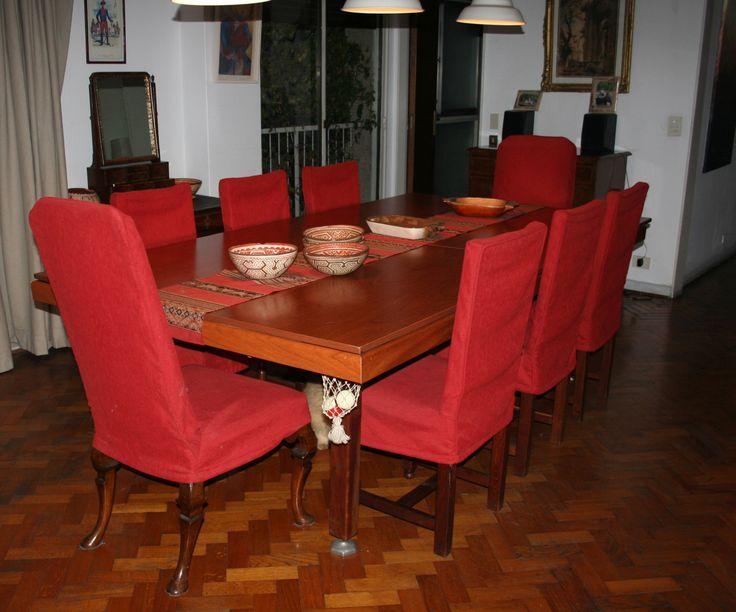 Dise o de comedor sillas vestidas fundas de sillas for Fundas para sillas comedor