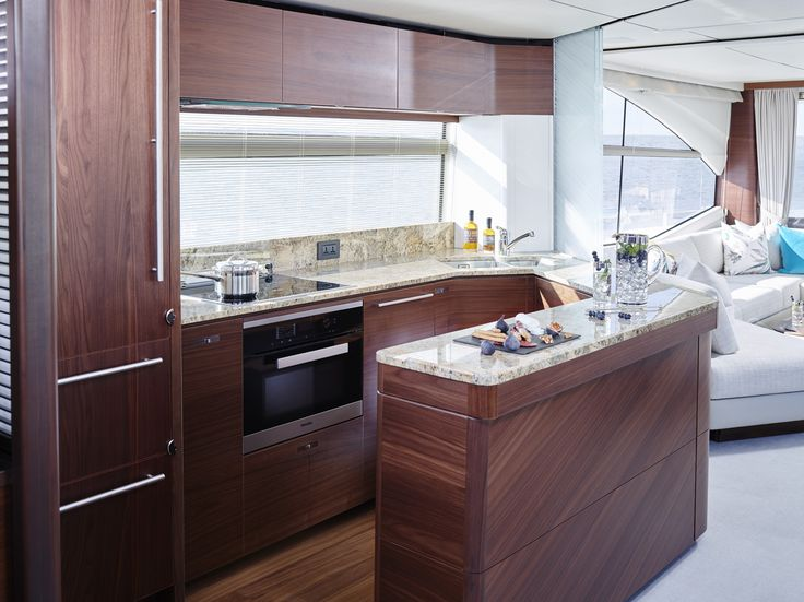 The Large Galley On Board 75 Motor Yacht Craftedinplymouth Design Interior