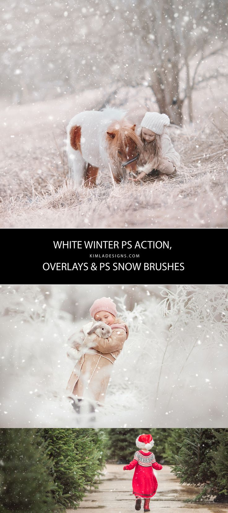 Beautiful, huge collection of  Snow Photoshop Overlays, Shooting Through Winter Branches overlays, PS Snow Brushes + Free Winterize PS Action  details:  - 30 Snow Photoshop Overlays, JPG, 300 dpi, from little delicate first snow to heavy fluffy one. Everything you will need this Winter ! Create your own Winter magic by mixing few overlays, endless possibilities.  Very easy to use. Simply place overlay on top of your image, change mode of the overlay layer for SCREEN and that's it.