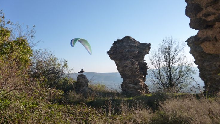 Paragliding at Siria in Romania