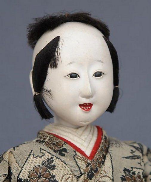 Antique musician dolls,Hina Matsuri,early 1900´s.(teeth!)
