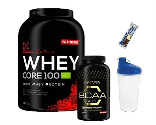 Nutrend Whey Protein 2.25 Kg + BCAA 100 Tablet+Shaker+ProteinBar