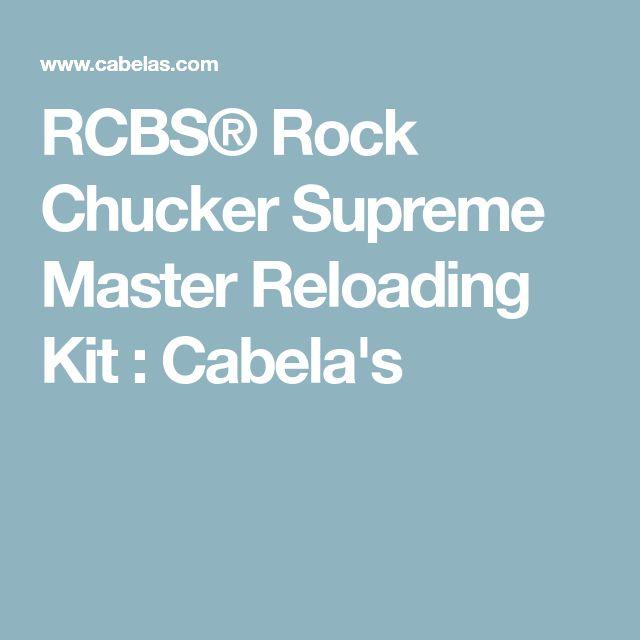 RCBS® Rock Chucker Supreme Master Reloading Kit : Cabela's