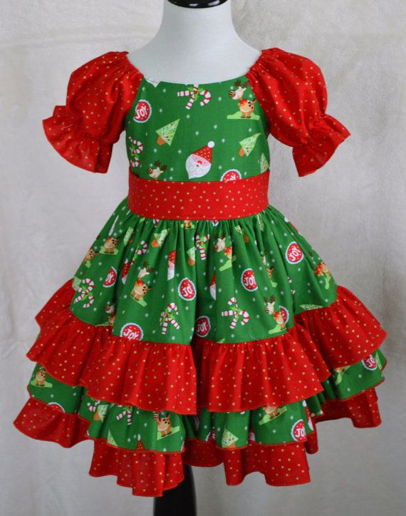 Girls Christmas Dress Toddler Christmas Dress by GrammiesNook