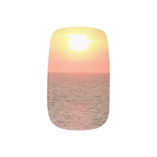 #zazzle #girl #woman #gift #giftidea #Nail #Art #Minx® #Sunset #on #Sea