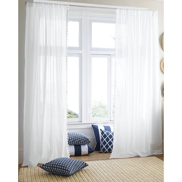 Awesome French Tassel Window Panel ❤ Liked On Polyvore Featuring Home, Home Decor, Window  Treatments Part 30