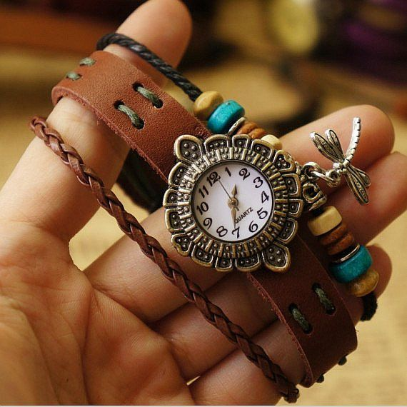 Hey, I found this really awesome Etsy listing at http://www.etsy.com/listing/155442192/leather-women-watch-bracelet-watch