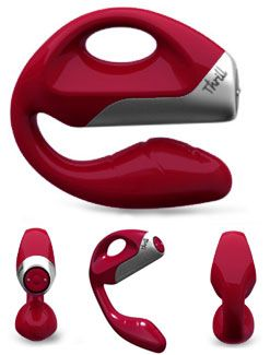 The Thrill by We-Vibe is a elegant dual action vibrator designed to assist women in achieving powerful orgasms. The ergonomic shape provides intense gspot and clitoral stimulation simultaneously, while the handle provides comfort and perfect positioning.