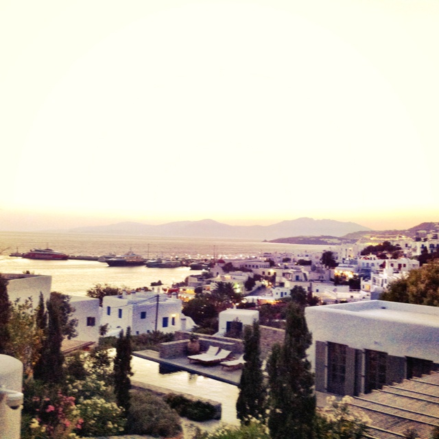 Almost sunset on the beautiful port of Mykonos...stunning or stunning?