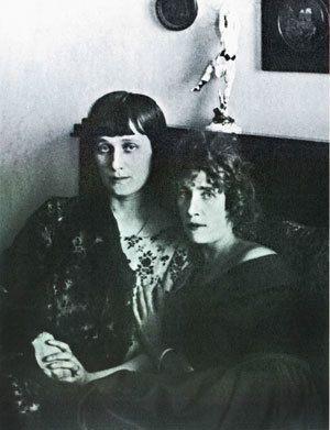Анна Ахматова и Ольга Глебова-Судейкина. 1920-е годы