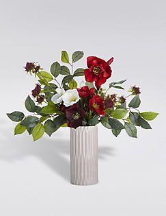 Bloemstuk met hangende bloemen, , catlanding