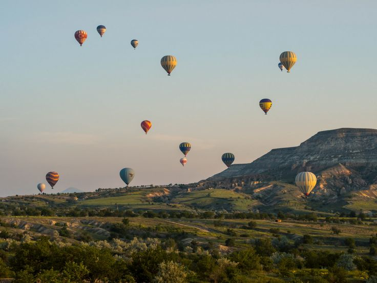 Cappadocia is an ongoing balloon festival. Once in a lifetime experience!