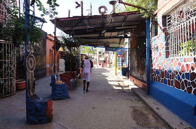 One of the colourful art suburbs of Havana