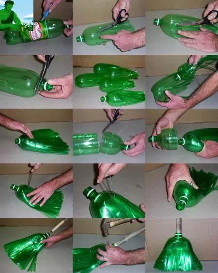 Recicla una botella de pet y haz una escoba / Recycled pet bottle and make a broom: Ideas, Craft, Plastic Bottles, Broom, Pet, Bottles, Diy
