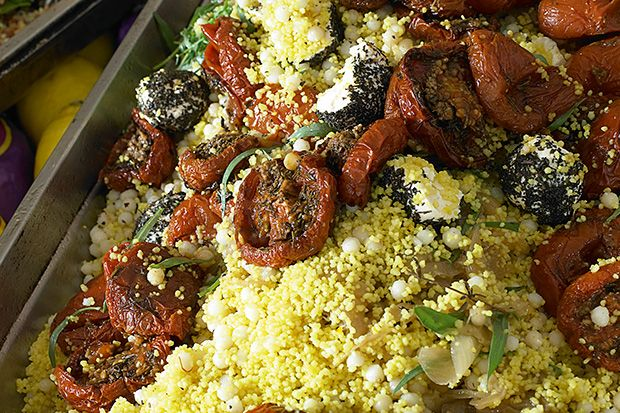 Find the recipe for Couscous and Mograbiah with Oven-Dried Tomatoes and other tomato recipes at Epicurious.com