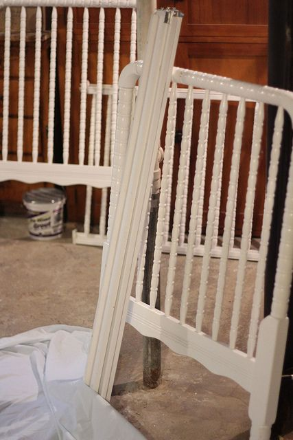 My Life in Transition: How I painted our crib PINK