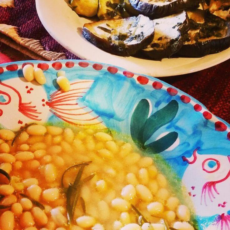 Zuppa di fagioli freschi e melanzane grigliate by Marco's Chef