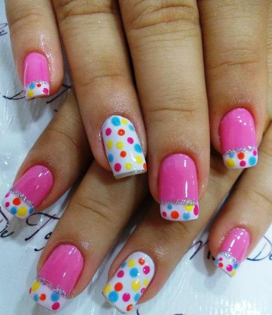 french mani and polka dots... two of my favorite things!