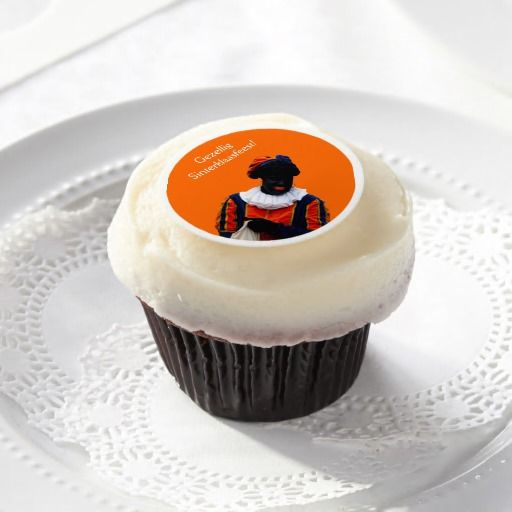 Frosting Sheets Orange with Black Piet