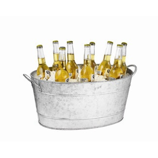 Tablecraft Galvanized Steel Oval Beverage Tub $31