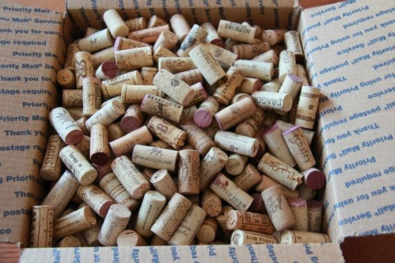 500 Used Natural Wine Corks by ViennaHandcraft on Etsy, $39.99