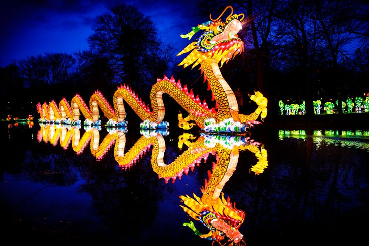 A 200-foot Chinese dragon is one of the many illuminated attractions coming to Philadelphia for the Chinese Lantern Festival in Franklin Square in April 2016. (Photo courtesy Chinese Lantern Festival)