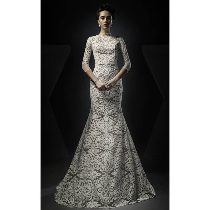 "84 Likes, 2 Comments - Ersa Atelier (@ersaatelierofficial) on Instagram: ""Fashioned in never-goes-out-of-style ivory lace, finished with allover hand embroidered pearl &…"""