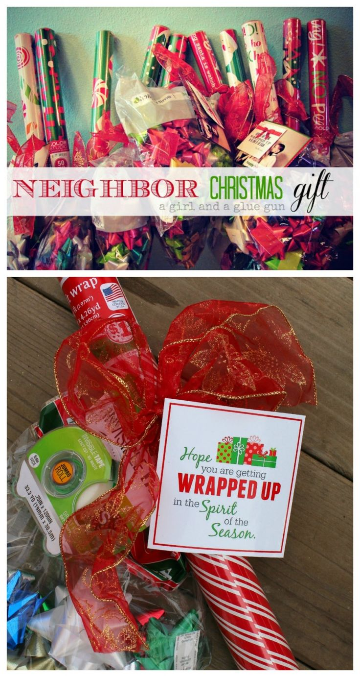 wrap it up! an easy and inexpensive neighbor gift