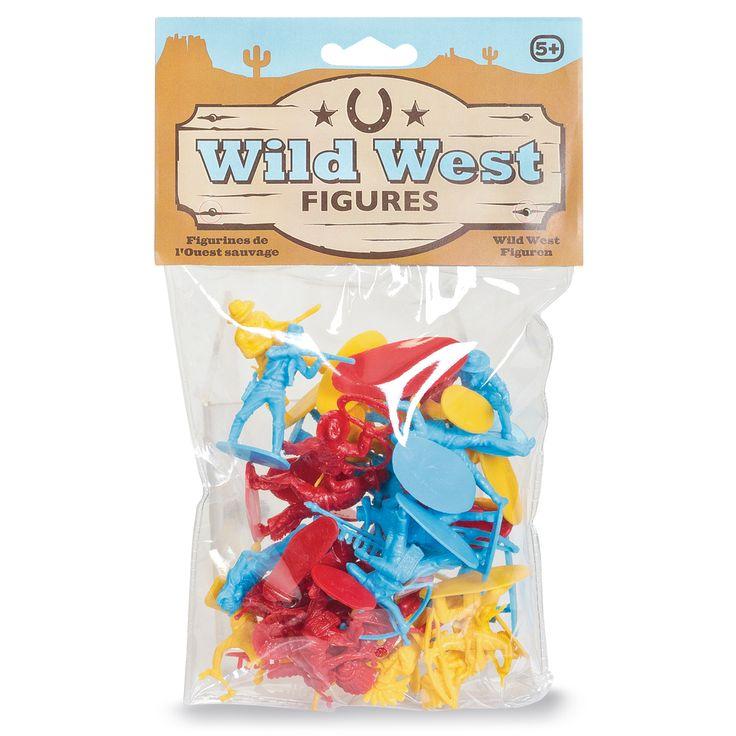 Een collectie van 24 Wild West figuurtjes in 3 verschillende kleuren en met verschillende actie poses! Voor uren spelplezier!