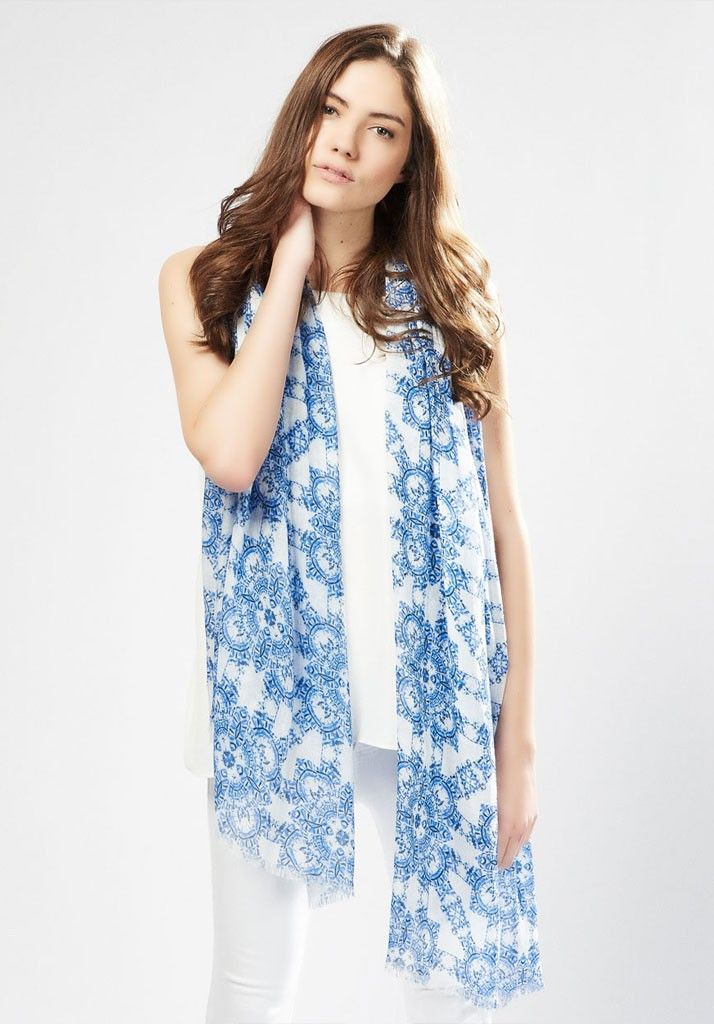 Talia Blue scarf