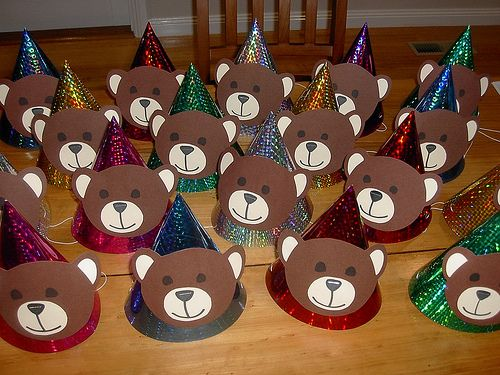 Teddy bear picnic party hats   I couldn't find any readymade…   Flickr