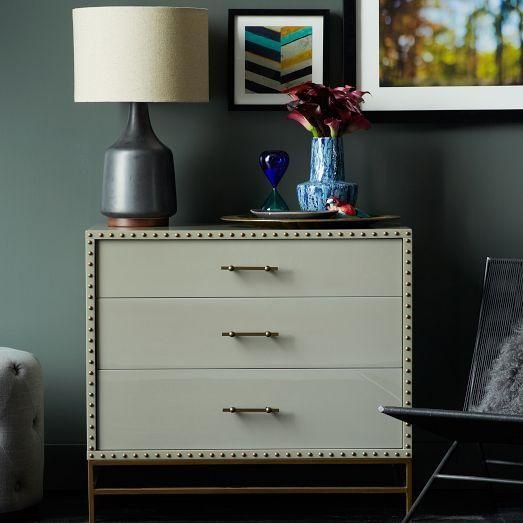 Nailhead 3-Drawer Dresser | west elm