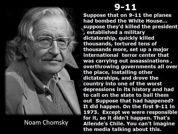 On September 11, 1973, General Augusto Pinochet and his right-wing supporters in the Chilean military and government staged a brutal coup d'etat that overthrew the democratically elected and socialist-leaning administration of Salvador Allende.    They did so with substantial assistance from the Nixon administration and the CIA, which had been supporting anti-socialist forces throughout Chile follow...  Facebook