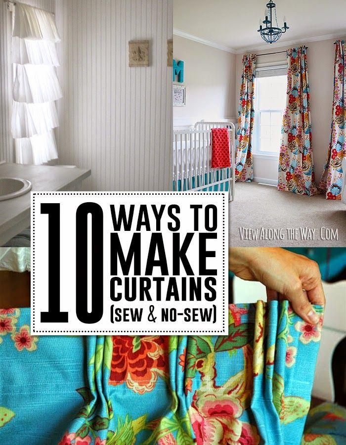 17 melhores ideias sobre cortinas de janela grandes no pinterest ...