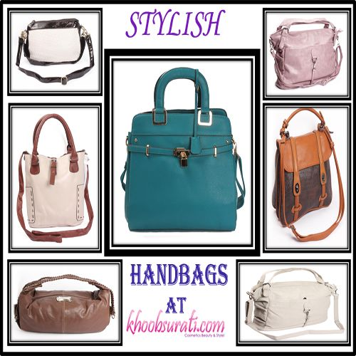 Match your personality with stylish bags that are available at affordable prices. http://khoobsurati.com/bags/hand-bags