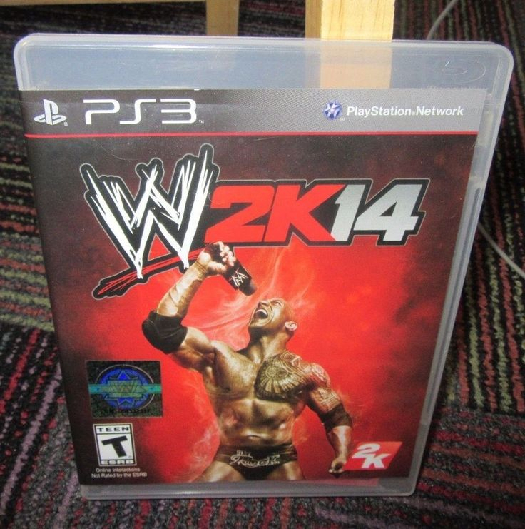 WWE 2K14 WRESTLING GAME FOR PS3 PLAYSTATION 3,CASE, GAME & MANUAL, EUC