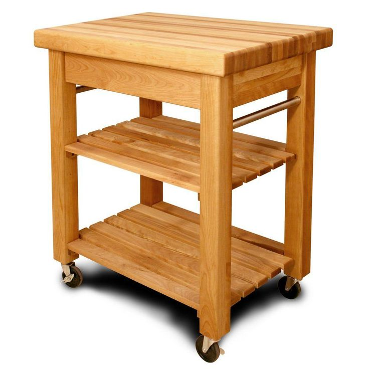 "$569 @ HD. 36 h x 20 d X 30 w/ 3.5"" deep drawer. Catskill Craftsmen French Country Natural Kitchen Cart With Storage"