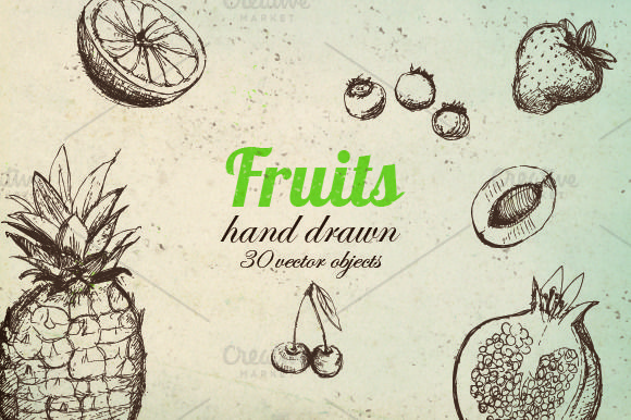 Vector Fruit Pack by MonstroCity on @creativemarket