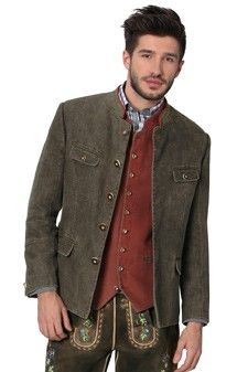 Traditional jacket Linen Lois old wood