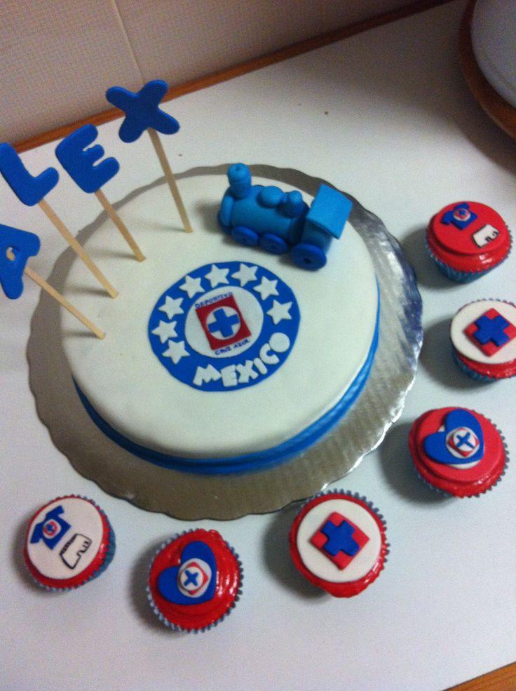 Pastel Y Cupcakes De Cruz Azul Reposter 237 A Pinterest