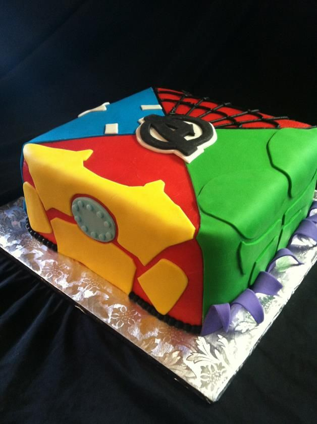 avengers cake ideas | ... cakes from simple sheet and traditional round cakes to character cakes