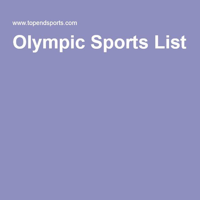 Olympic Sports List