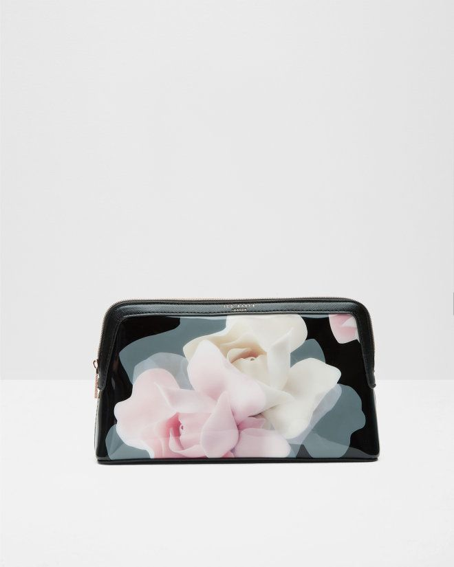 Porcelain Rose large wash bag - Black | Gifts for Her | Ted Baker