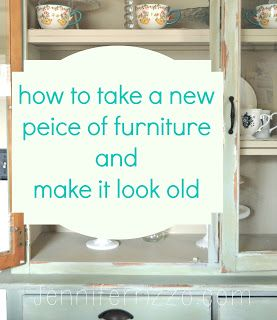 Make A Peice Of Furniture Look Old With Paint And Distressing