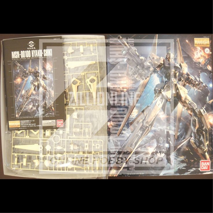 [MODEL-KIT] MG 1/100 - MSN-001 HYAKU-SHIKI VER.2.0. Item Size/Weight : 39.2 x 31.2 x 8.4 cm / 729g* (*ITEM SIZE & WEIGHT BEFORE PACKAGED). Condition: MINT / NEW & SEALED RUNNER. Made by BANDAI.