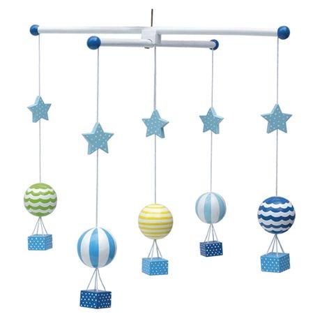 Köp Jabadabado Trämobil Luftballong Blå | Barnrummet Sängtillbehör | Jollyroom