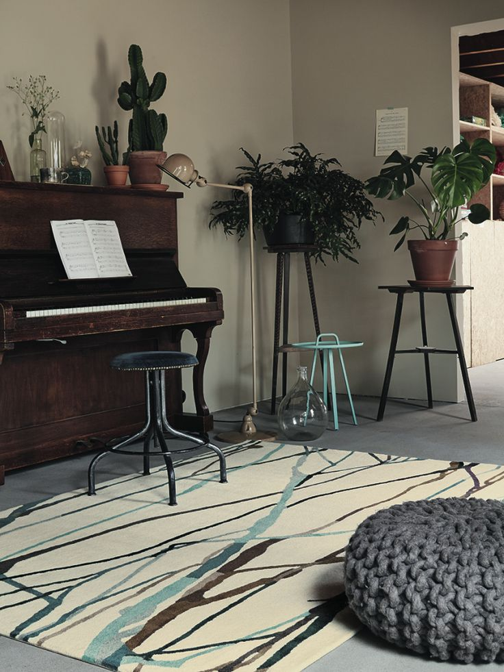 Xian Drip rug - Rug styling tips from Rodgers of York. #interiors