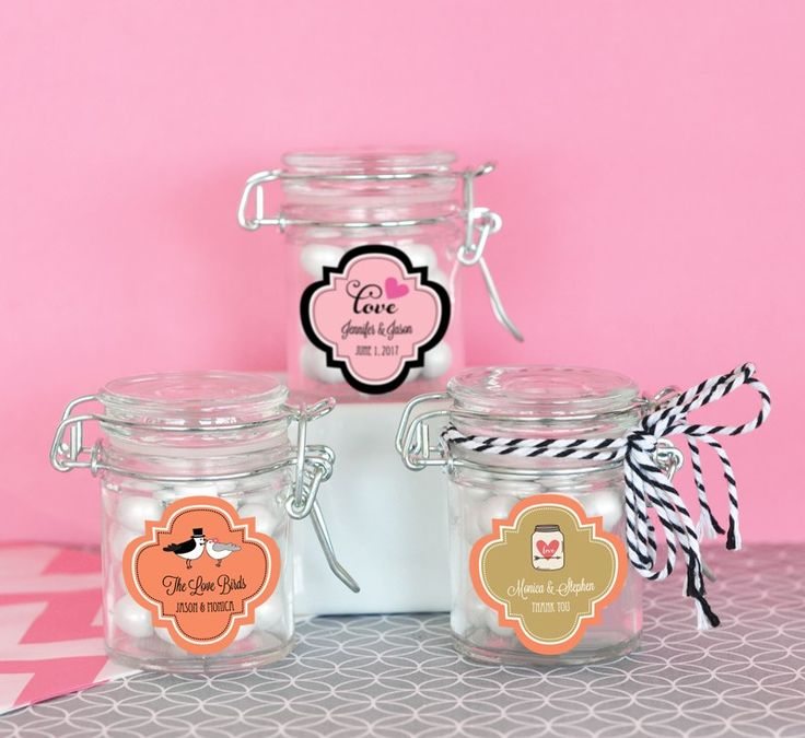 Personalized Theme Glass Jar with Swing Top Lid - MINI